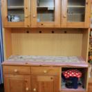 食器棚・収納棚(レンジ、炊飯器台コンセント付)