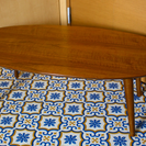 ウォルナット材 センターテーブル 折り畳み可