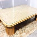ラタン製 ガラスセンターテーブル LC062108