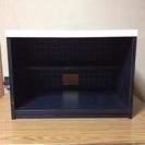 【週末限定特価】木製のテレビ台 2段カラーボックス モノクロデザイ...