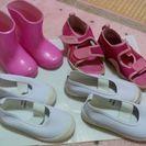 子供用長靴13cm、上履き14cm譲ります。