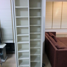 CDラック 木製白 スライド棚