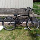 ビーチクルーザー黒26インチ自転車
