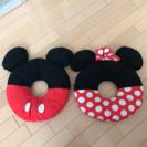 値下げしました!【絶版】ミッキー&ミニー ドーナツクッション 座布団