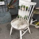 ナチュラルアンティークガーデニング小物椅子