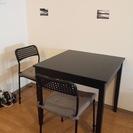 IKEA ダイニングテーブル 椅子2脚付き
