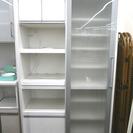 札幌 引き取り 大型キッチンボード スライドドア レンジ台+収納棚 白