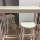 カウンターテーブルセット(椅子2脚付)