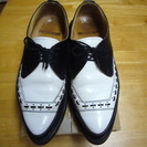 中古ジョージコックス26.5cmロカビリー革靴