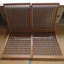 格子 建具 ガラス戸 4枚セット 昭和 古民家 古民具 レトロ DIY