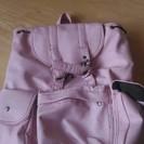 ピンクのリュックサック