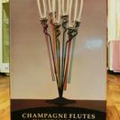シャンペンフルートグラスセット テーブルセッティングが華やかになります。