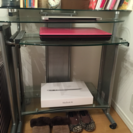 ガラス天板PCデスク