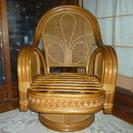 籐製の椅子