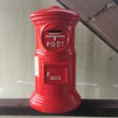 レトロな郵便ポストの貯金箱