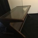 アンティーク風本棚付きテーブル