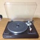 【大至急引取希望】SHARPの木目調のレコードプレーヤー ターンテーブル