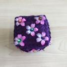 アジアン雑貨 小物入れ 紫