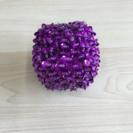 アジアン雑貨 小物入れ ビーズ紫