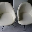 回転式 一人用 チェア 椅子 2脚セット 状態は良くありません