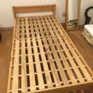 (お取引中)無印良品 パイン材シングルベッド