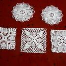 レース編みコースター5枚A