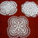 レース編み花瓶敷き3枚C