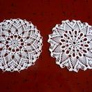 レース編み花瓶敷き2枚F