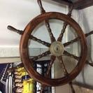 船 舵 アンティーク 木製 中古品
