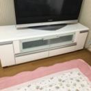 136㎝鏡面仕上げ白のテレビ台