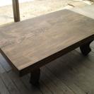 天然木の一枚板テーブル(座卓)
