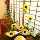 鎌倉・燕カフェでいけばなレッスン