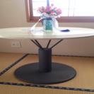 美品、コーヒーテーブル?サイドテーブル?丸テーブル 大理石風