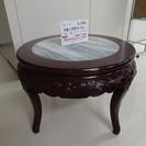 木彫り丸形テーブル(2906-53)
