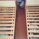イケア 無垢シンプル木のベッド二台  2人兄弟に