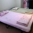 セミダブル ベッドカバー&ブランケットセット <ピンク&ベージュ>