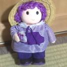 ラベンダー香り袋付き女の子の人形