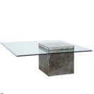 【Flying table】北欧ガラス コーヒーテーブル