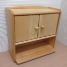 木製  調味料棚  飾り棚  トールペイント モザイクタイル
