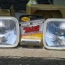 180sx等 角型ヘッドライト2個セット ラジエターストップリーク...
