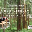 【夏休みWS】森を知って木を楽しもう ~木のイスづくり~