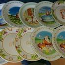 ラスカル&フランダースの犬絵皿10枚セット