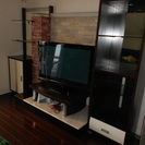 解体と搬出できる方限定 テレビ台 テレビボード 大型壁面収納 神戸市北区