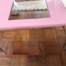 折りたたみ、ピンクテーブル