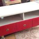 おしゃれなテレビボード 赤白