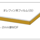 DIY◆用途色々◆MDF白ベニヤ10枚◆定価より安値!1枚980円