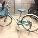 子供用自転車 22インチ ブリヂストン エコパル フローラルブルー