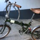 折りたたみ自転車 20インチ Topone 緑色