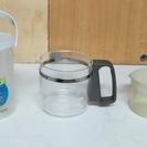 飲料用ボトル、コーヒーメーカー用ポット、計量カップ、