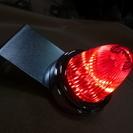 数在り!LED流星ミニドームマーカー12、24V共用 ステー付き レッド